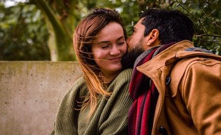 kissing his partner