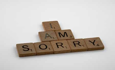 saying sorry to my ex
